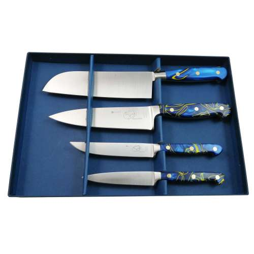 4 Piece Gourmet Ocean Blue Set